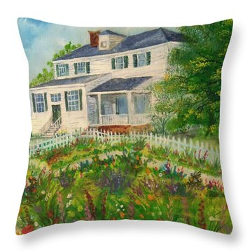 Spring In Colonial Williamsburg- Cole House Throw Pillow