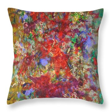 Spring In Layers Throw Pillow