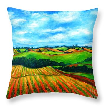 Spring In Prince Edward Island Throw Pillow