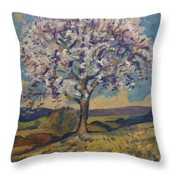 Throw Pillow featuring the painting Spring In South Limburg by Nop Briex