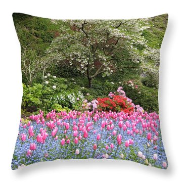 Spring In The Air Throw Pillow by Shirley Sirois