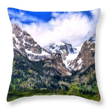 Spring In The Grand Tetons Throw Pillow by Michael Pickett