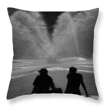 Throw Pillow featuring the digital art Spring In The Metro by Kelvin Booker