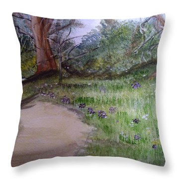 Spring In The Park Throw Pillow by Carole Robins