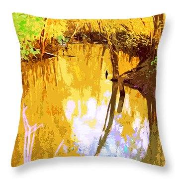 Spring In The Woods Throw Pillow