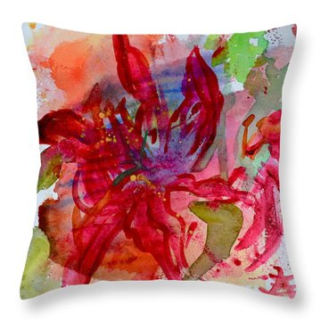 Spring Is A Messy Business Throw Pillow by Beverley Harper Tinsley