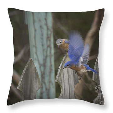 Spring Is Coming I Throw Pillow by Cris Hayes
