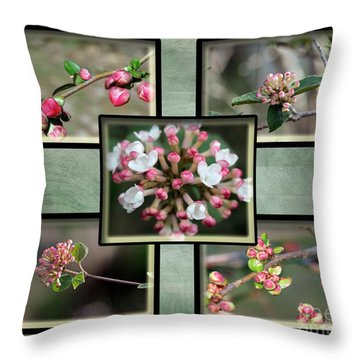 Spring Is Here - Green Throw Pillow
