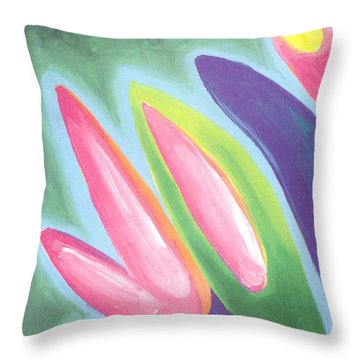Spring Is On Its Way Throw Pillow