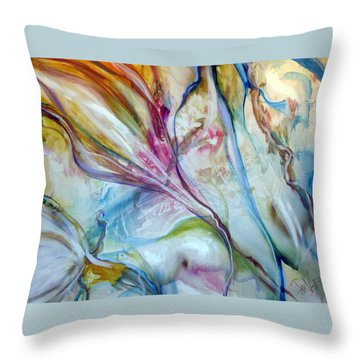 Spring Throw Pillow by Jan VonBokel