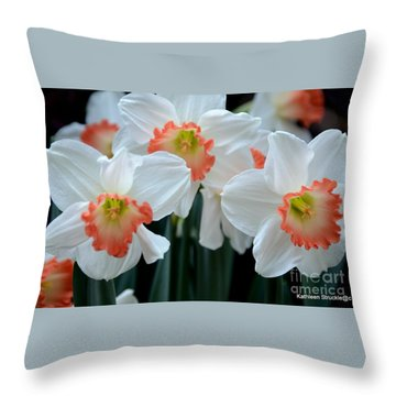 Spring Jonquils Throw Pillow by Kathleen Struckle