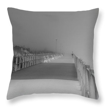 Spring Lake Boardwalk - Jersey Shore Throw Pillow