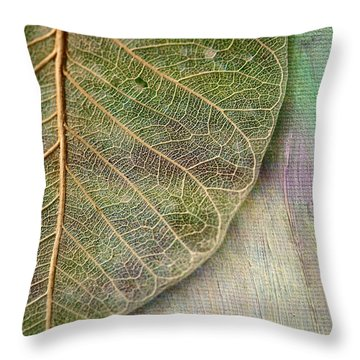 Spring Leaf Throw Pillow