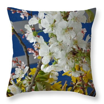 Spring Life In Still-life Throw Pillow