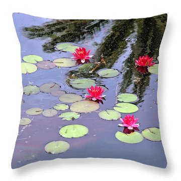 Spring Lilly Throw Pillow