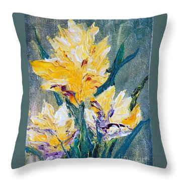 Spring Love Throw Pillow by Teresa Wegrzyn