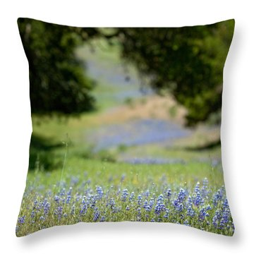 Spring Lupines Throw Pillow by Art Block Collections