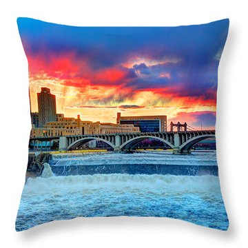 Spring Melt On The Mississippi Throw Pillow by Amanda Stadther