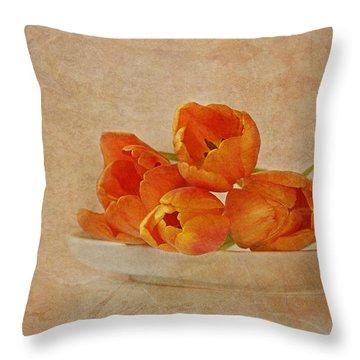 Spring Menu Throw Pillow by Claudia Moeckel