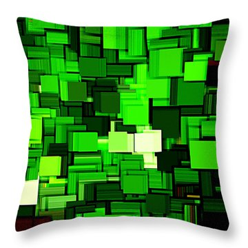 Spring Modern Abstract Xiv Throw Pillow by Lourry Legarde