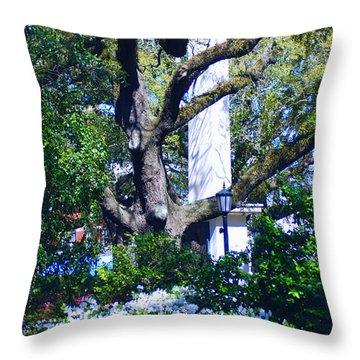 Spring Monolith Throw Pillow