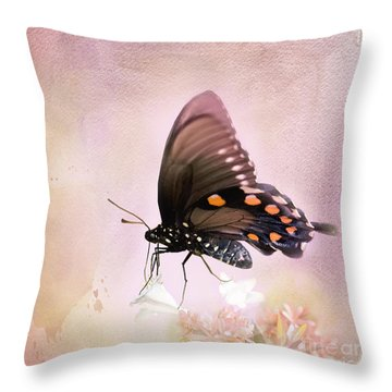Spring Morning Throw Pillow by Betty LaRue