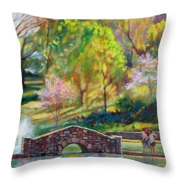 Spring Morning Throw Pillow by Bonnie Mason