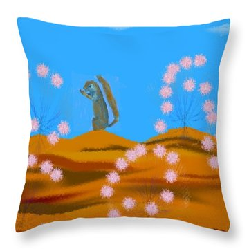 Spring Morning Desert Throw Pillow