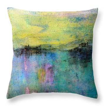 Spring Morning Throw Pillow by Jim Whalen