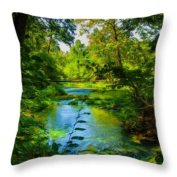 Spring Of Wonderment Throw Pillow