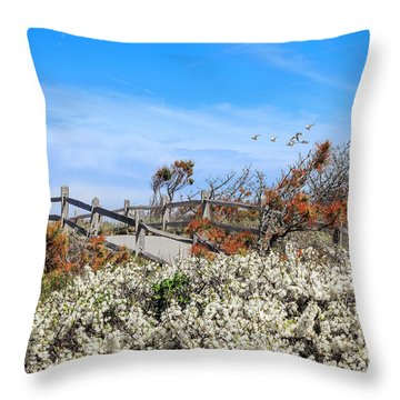 Spring On Cape Cod Throw Pillow