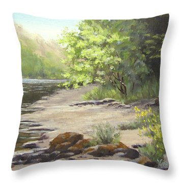 Spring On My Mind Throw Pillow by Karen Ilari