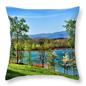 Spring On The Lake Throw Pillow by Kenny Francis
