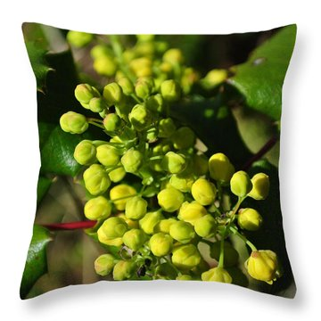 Spring Oregon Grape Throw Pillow
