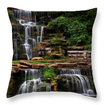 Spring Park Falls Throw Pillow