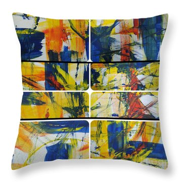 Throw Pillow featuring the painting Spring Part One by Sir Josef - Social Critic - ART