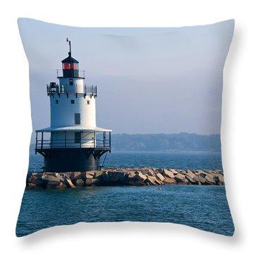 Spring Point Lighthouse Throw Pillow
