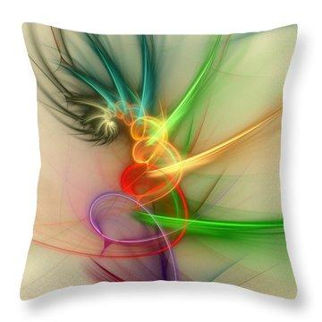 Spring Power Throw Pillow by Anastasiya Malakhova
