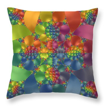 Throw Pillow featuring the digital art Spring Promises Fractal by Judi Suni Hall