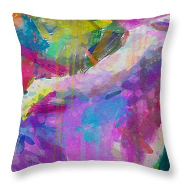 Spring Rain Throw Pillow by Greg Collins