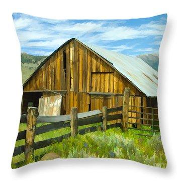 Spring Range Barn Throw Pillow