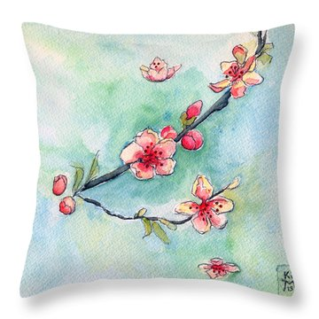 Spring Relief Throw Pillow by Katherine Miller