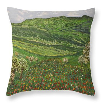 Spring Remembrances Throw Pillow by Felicia Tica