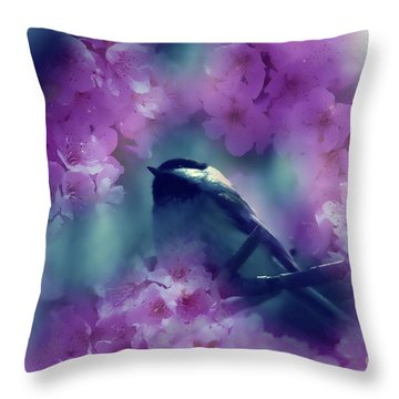 Spring Rhapsody Blossoms Throw Pillow by Cathy  Beharriell