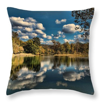 Spring River Autumn Throw Pillow