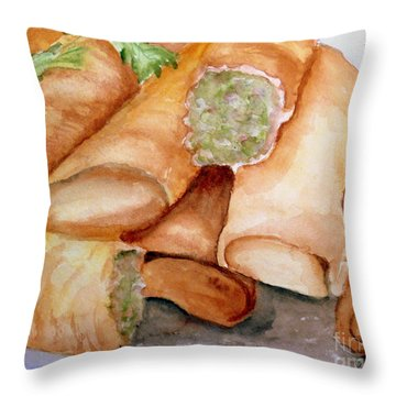 Spring Rolls Throw Pillow