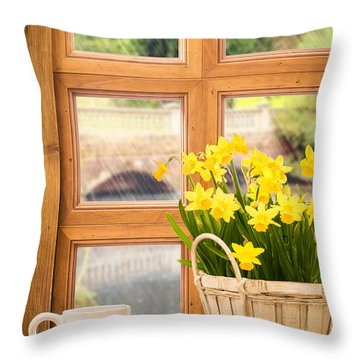 Spring Showers Throw Pillow