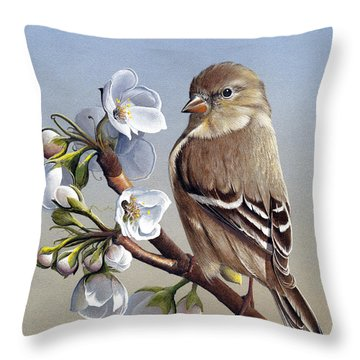 Throw Pillow featuring the painting Spring Splendor by Mike Brown