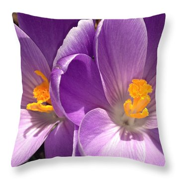 Spring Sprang Throw Pillow by Gwyn Newcombe