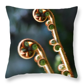 Spring Stanza Throw Pillow by Xueling Zou